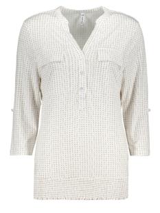linda blouse with dots print 202 zoso blouse white/sand