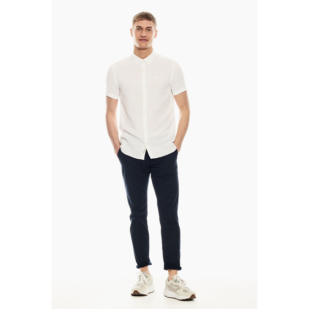 linnen overhemd p01240 garcia overhemd 50 white
