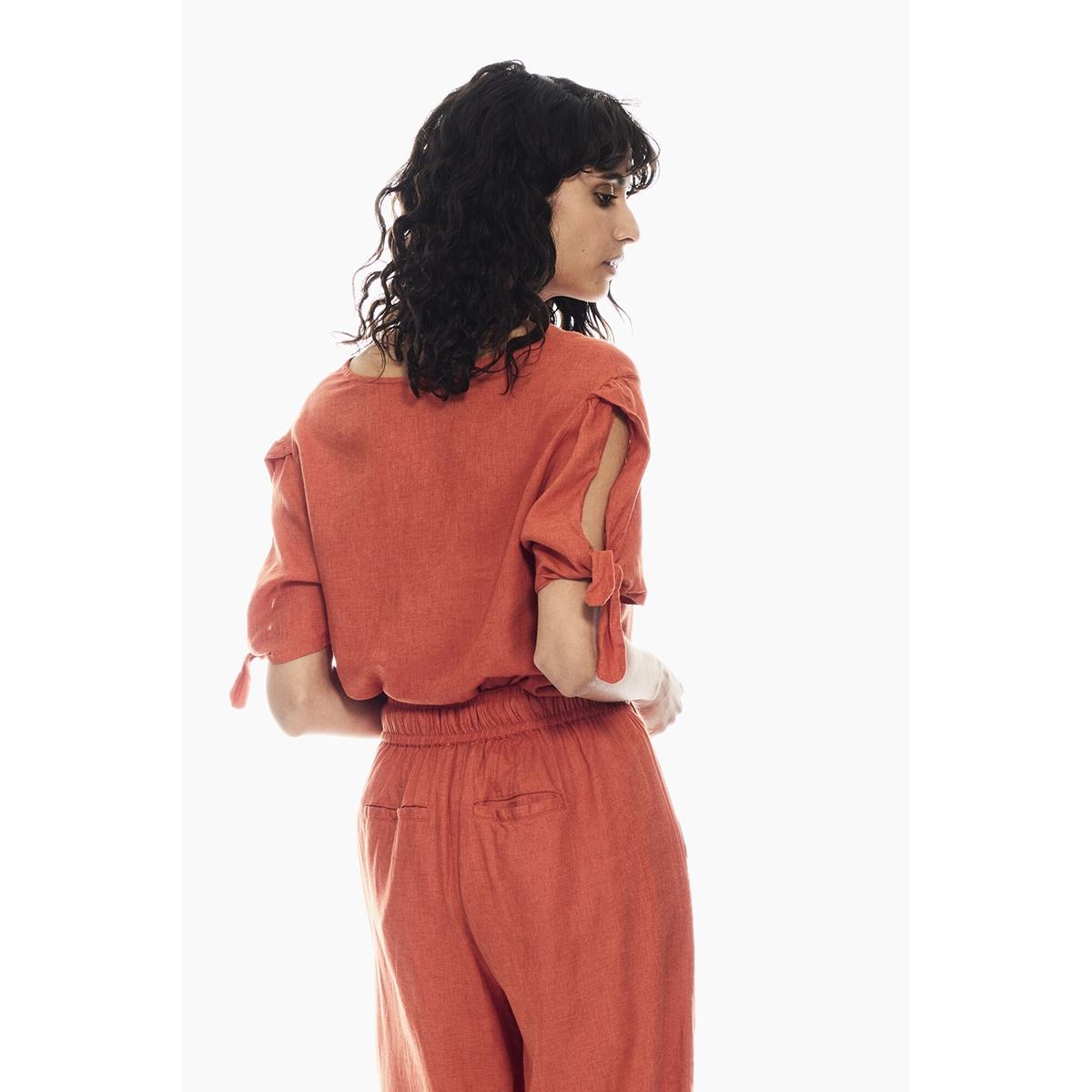 blouse van linnenmix q00030 garcia blouse 7612 burnt ochre