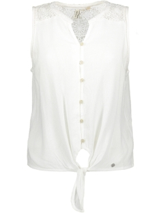 Superdry Top MORGAN LACE BLOUSE W4010058A CHALK WHITE
