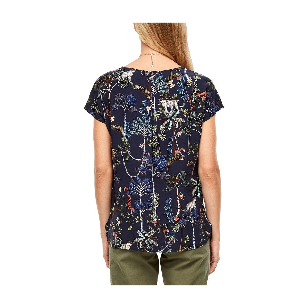 oversized blouse met motief 05006123947 s.oliver blouse 58a2