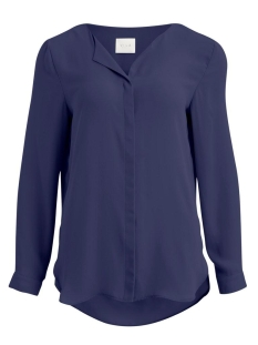 vilucy l/s shirt - fav 14044583 vila blouse patriot blue