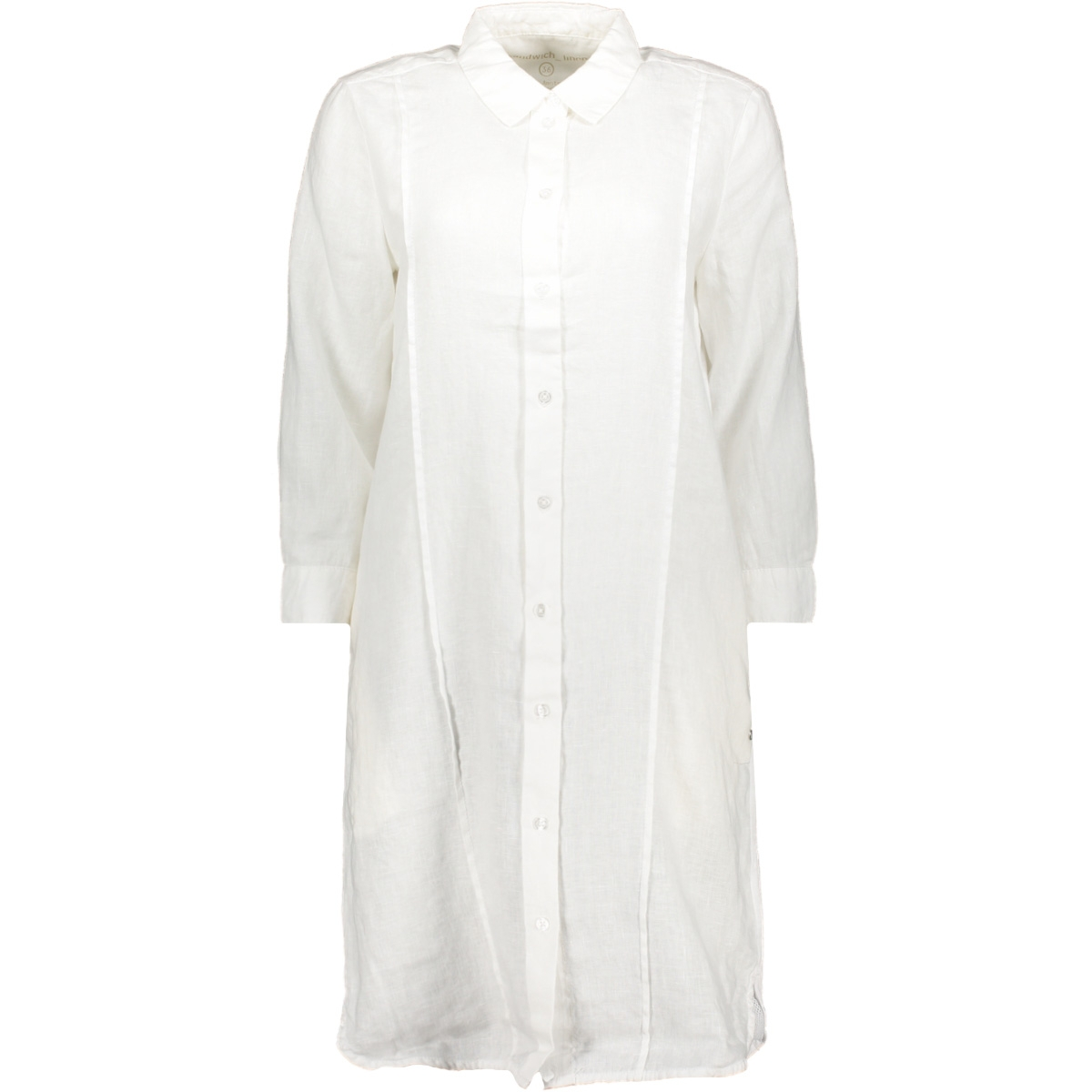 linnen jurk met 3 4 mouw 22001816 sandwich jurk 10058