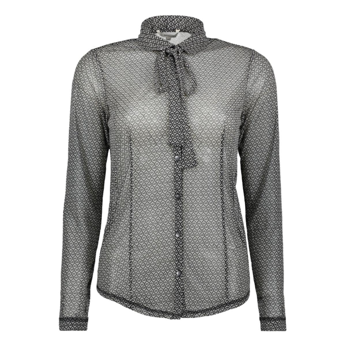 chiffon blouse 22001682 sandwich blouse washed chalk