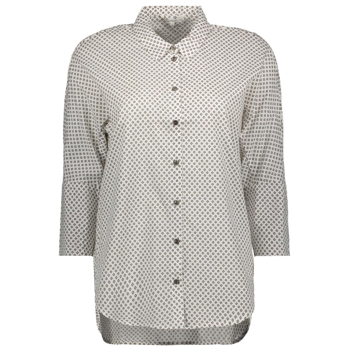 blouse met print 22001544 sandwich blouse 65776