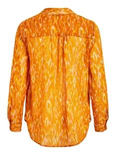 visavina lenoa l/s shirt c12 14060315 vila blouse pumpkin spice/lenoa
