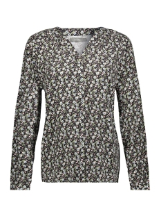 Geisha Blouse BLOUSE AOP LITTLE FLOWERS LS 03132 11 Black/Army Combi