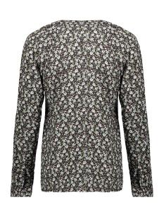 blouse aop little flowers ls 03132 11 geisha blouse black/army combi