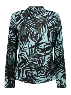 Geisha Blouse BLOUSE AOP LEAVES LS 03185 20 Mint Combi