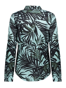 blouse aop leaves ls 03185 20 geisha blouse mint combi