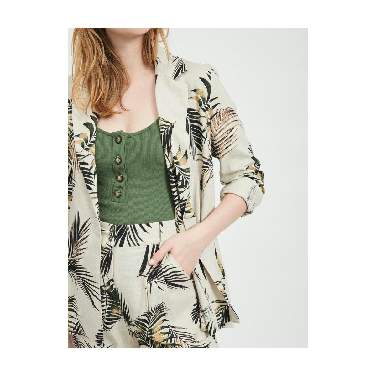 objadil l/s shirt 109 23032781 object blazer sandshell/burnt olive