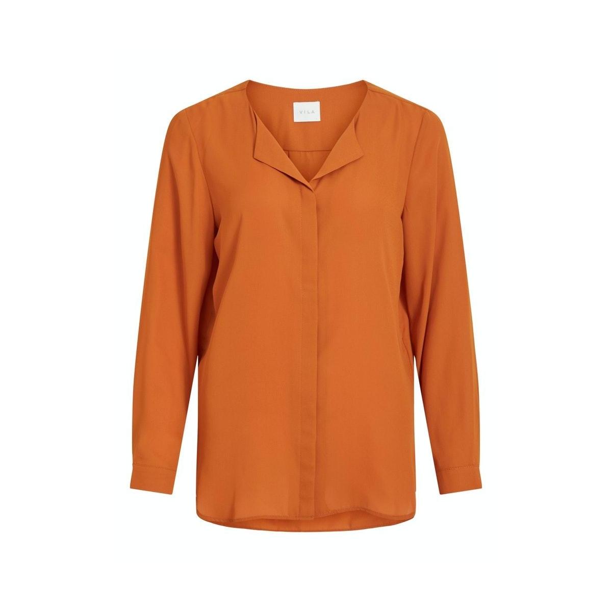 vilucy l/s shirt - noos 14044253 vila blouse pumpkin spice