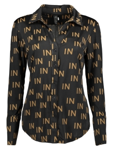 IZ NAIZ Blouse 3701 BLOUSE V- BUTTON IN PRINT