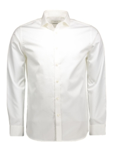 andrew shirt l/s tight fit sup 12020857 jack & jones overhemd optical white
