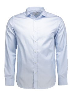 andrew shirt l/s tight fit sup 12020857 jack & jones overhemd shirt blue