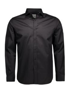 andrew shirt l/s tight fit sup 12020857 jack & jones overhemd black