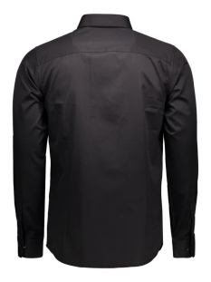 andrew shirt l/s tight fit sup 12020857 jack & jones overhemd black