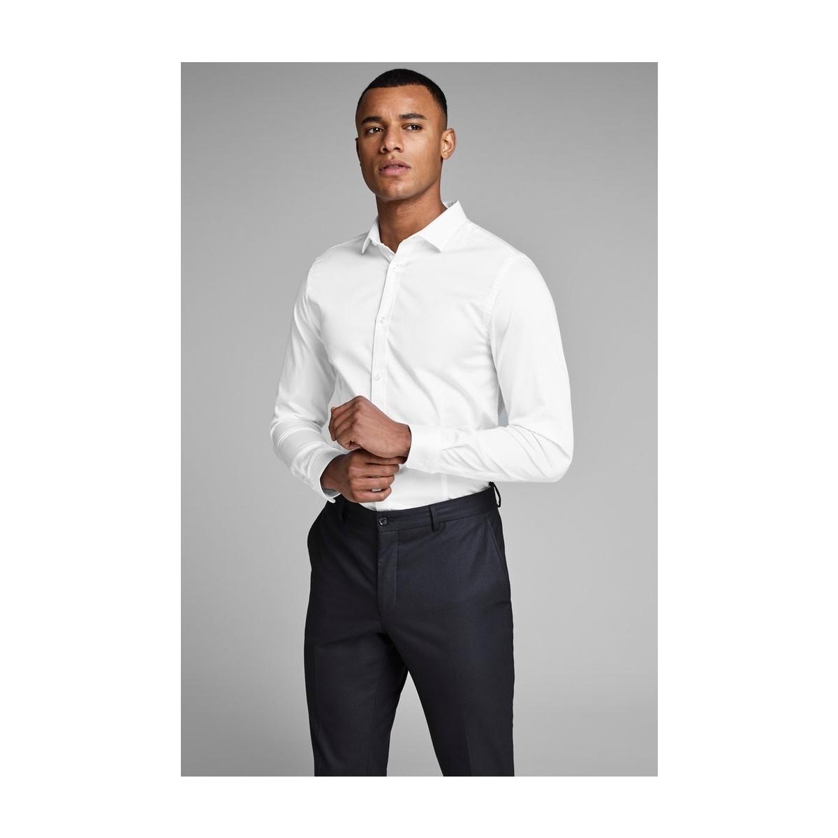 jjprparma shirt l/s noos 12097662 jack & jones overhemd white