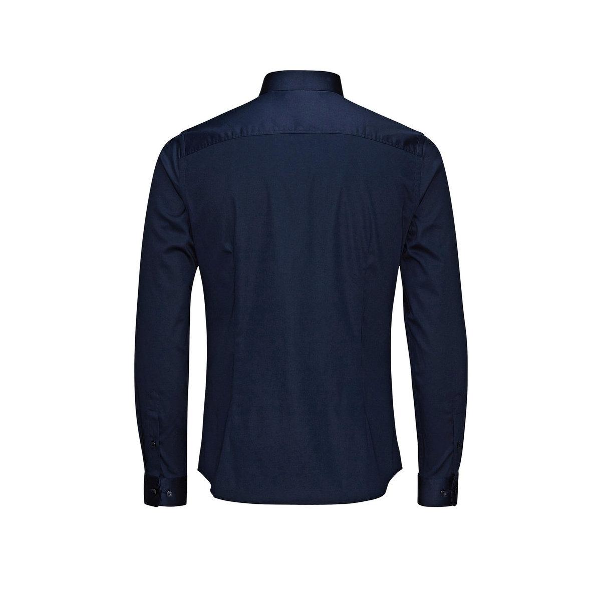 jjprparma shirt l/s noos 12097662 jack & jones overhemd navy blazer