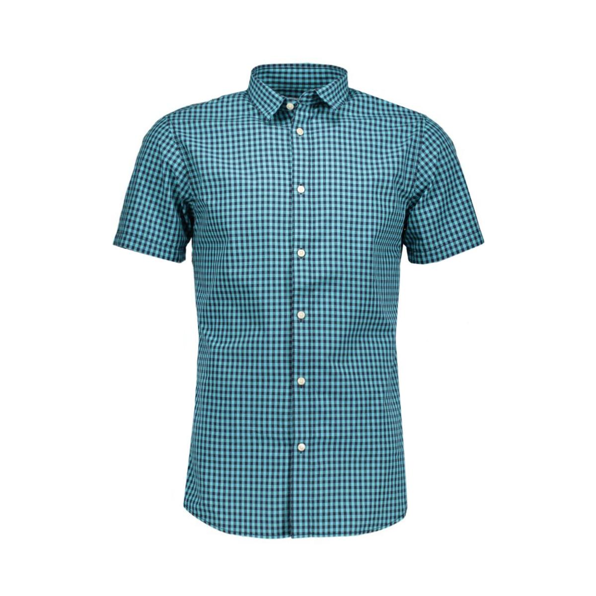 jcotim shirt no pocket 12106240 jack & jones overhemd deep teal
