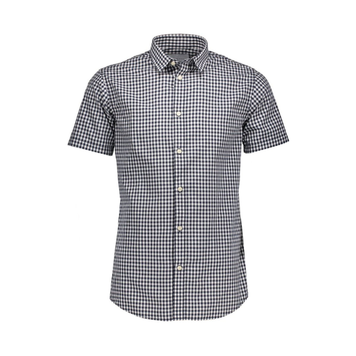 jcotim shirt no pocket 12106240 jack & jones overhemd navy blazer