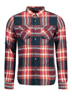 Superdry Overhemd M40001EN UPRISING NAVY CHECK