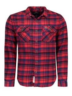 Superdry Overhemd M40017ENF2 MILLED FLANNEL NAVY CHECK