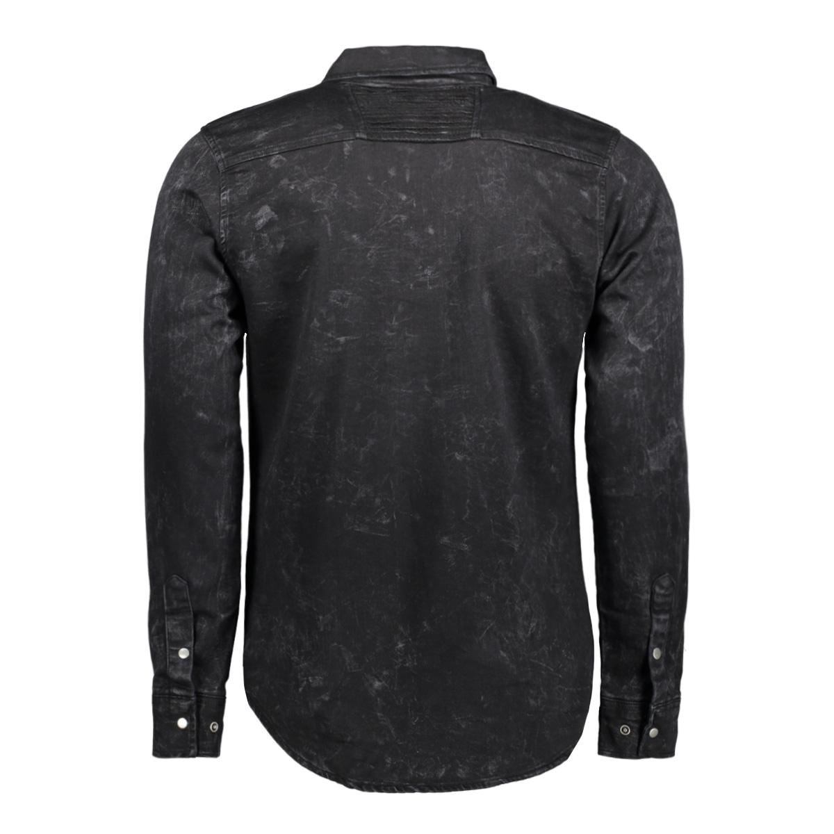 32649 gabbiano overhemd black
