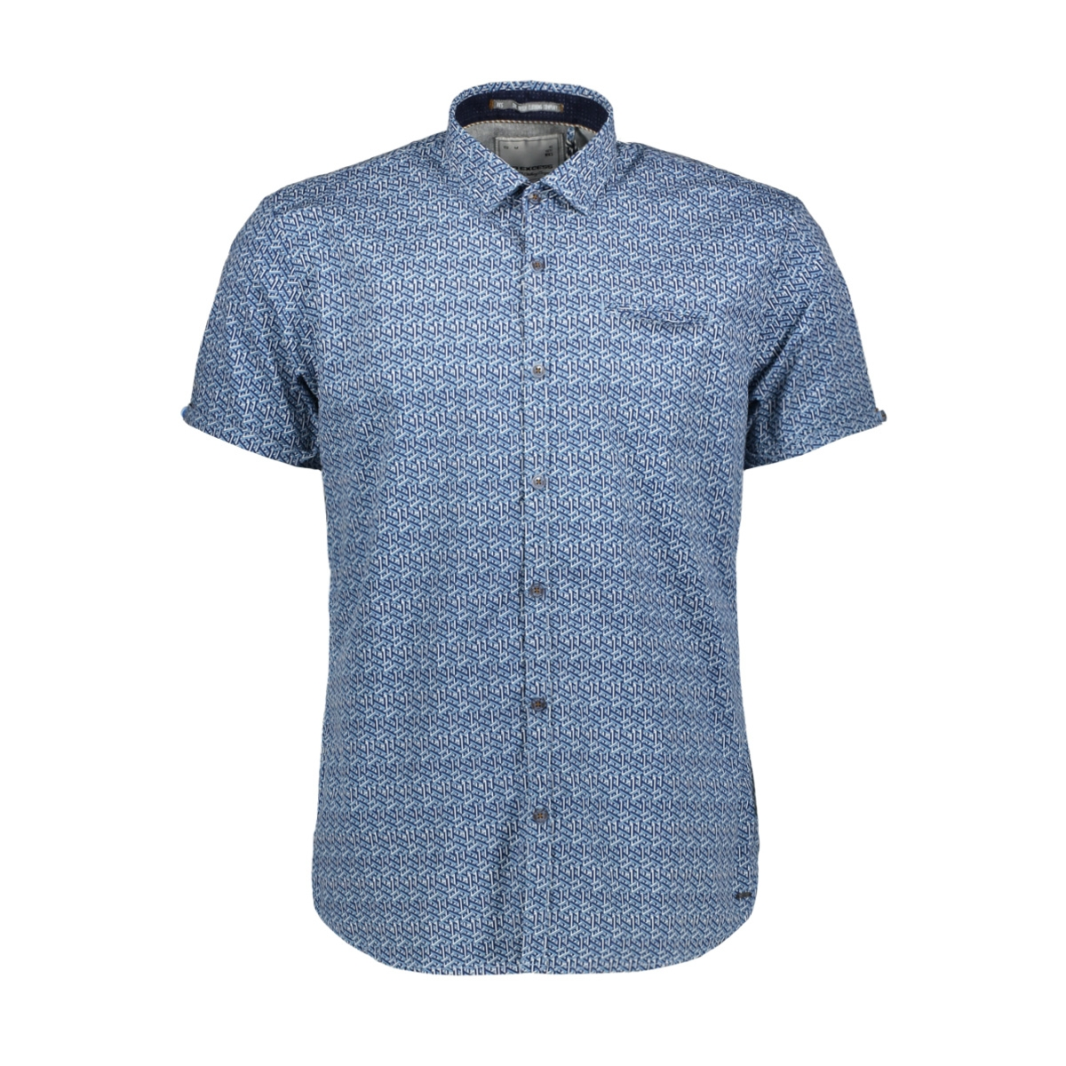 allover printed shirt 90460306 no-excess overhemd 136 inidgo blue