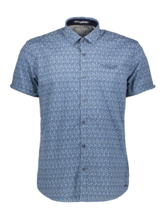 NO-EXCESS Overhemd ALLOVER PRINTED SHIRT 90460306 136 Inidgo Blue