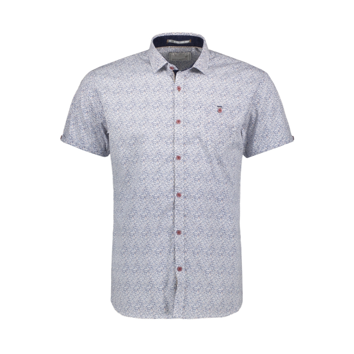 allover printed shirt 90460303 no-excess overhemd 010 white