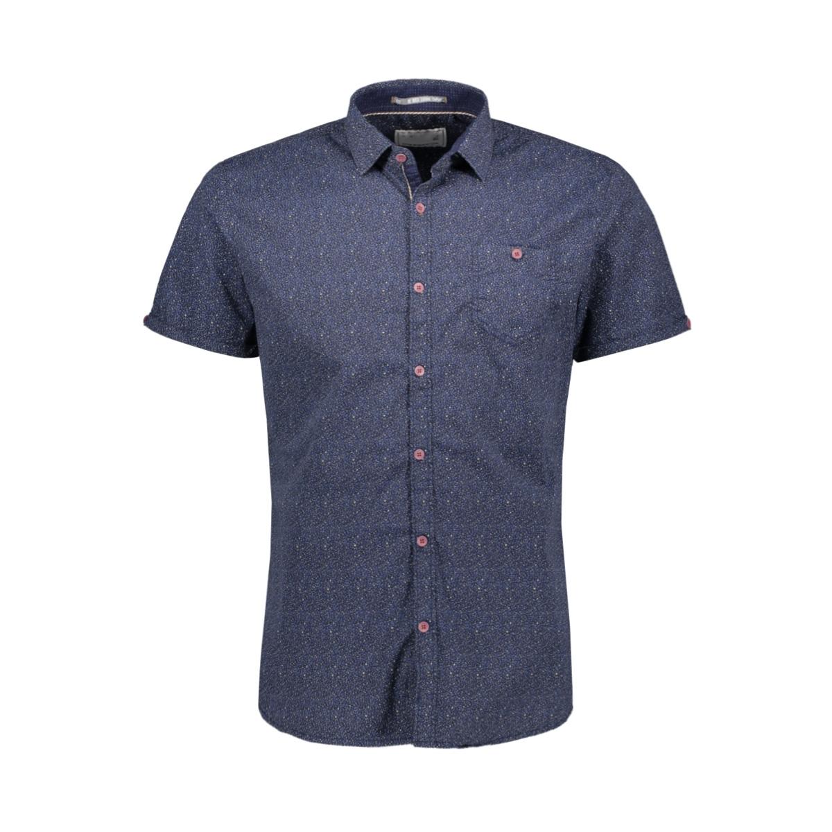 allover printed shirt 90460303 no-excess overhemd 136 indigo blue