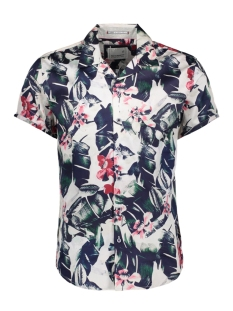NO-EXCESS Overhemd Shirt  s sl  ao flower printed popl 90420402 065