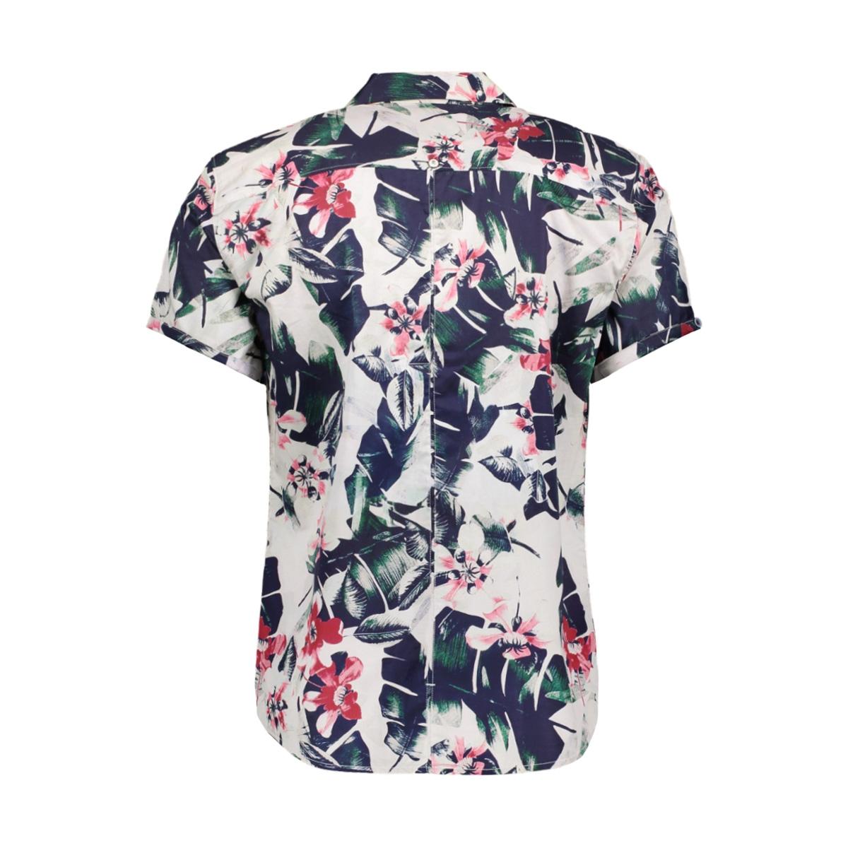 shirt  s sl  ao flower printed popl 90420402 no-excess overhemd 065