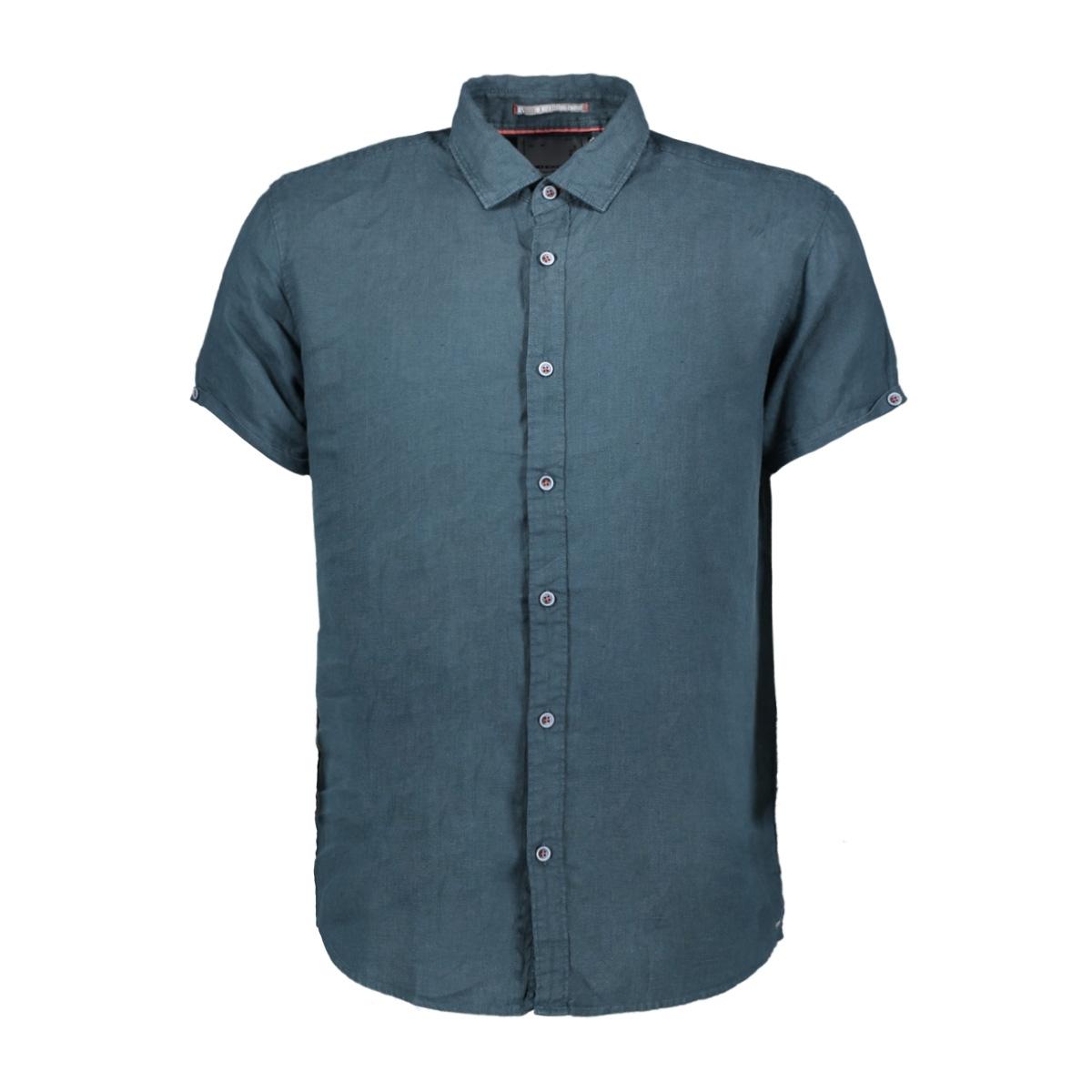 linnen shirt 90420408 no-excess overhemd 157 dk seagreen
