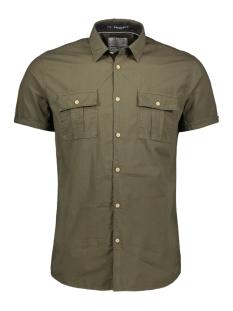 poplin shirt 90440407 no-excess overhemd 059 dk army
