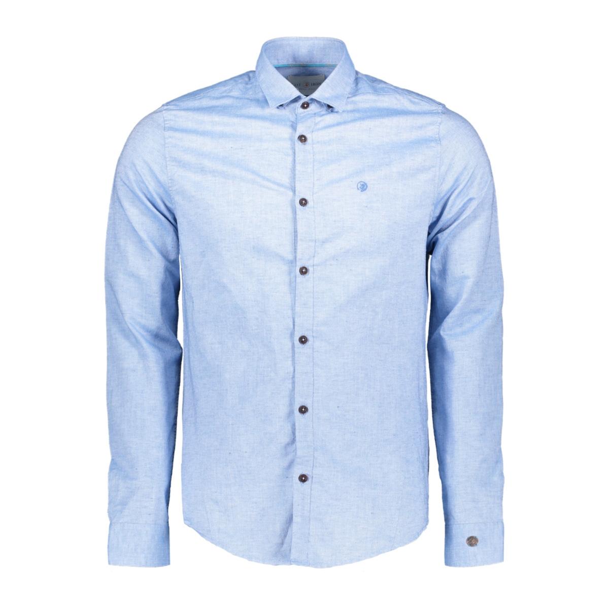 cotton linnen dobby shirt csi193642 cast iron overhemd 5307