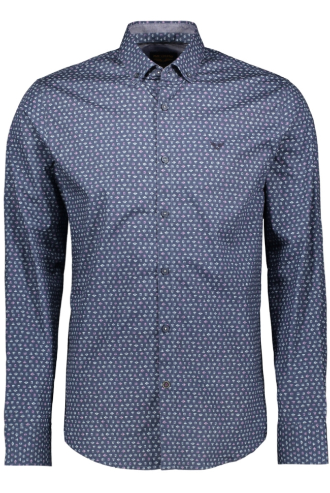 poplin print shirt psi195216 pme legend overhemd 5281