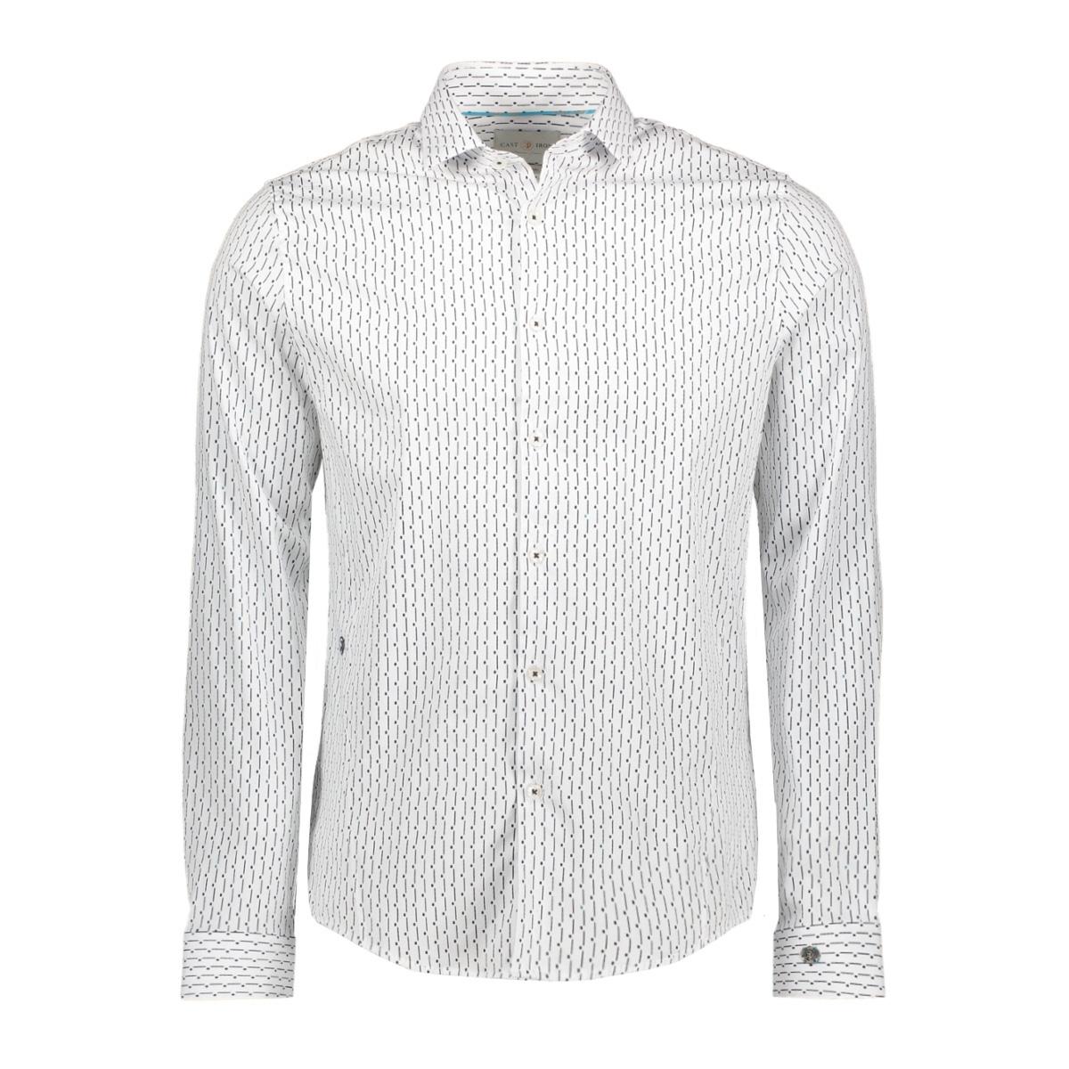 broken stripe printed shirt csi195612 cast iron overhemd 7003