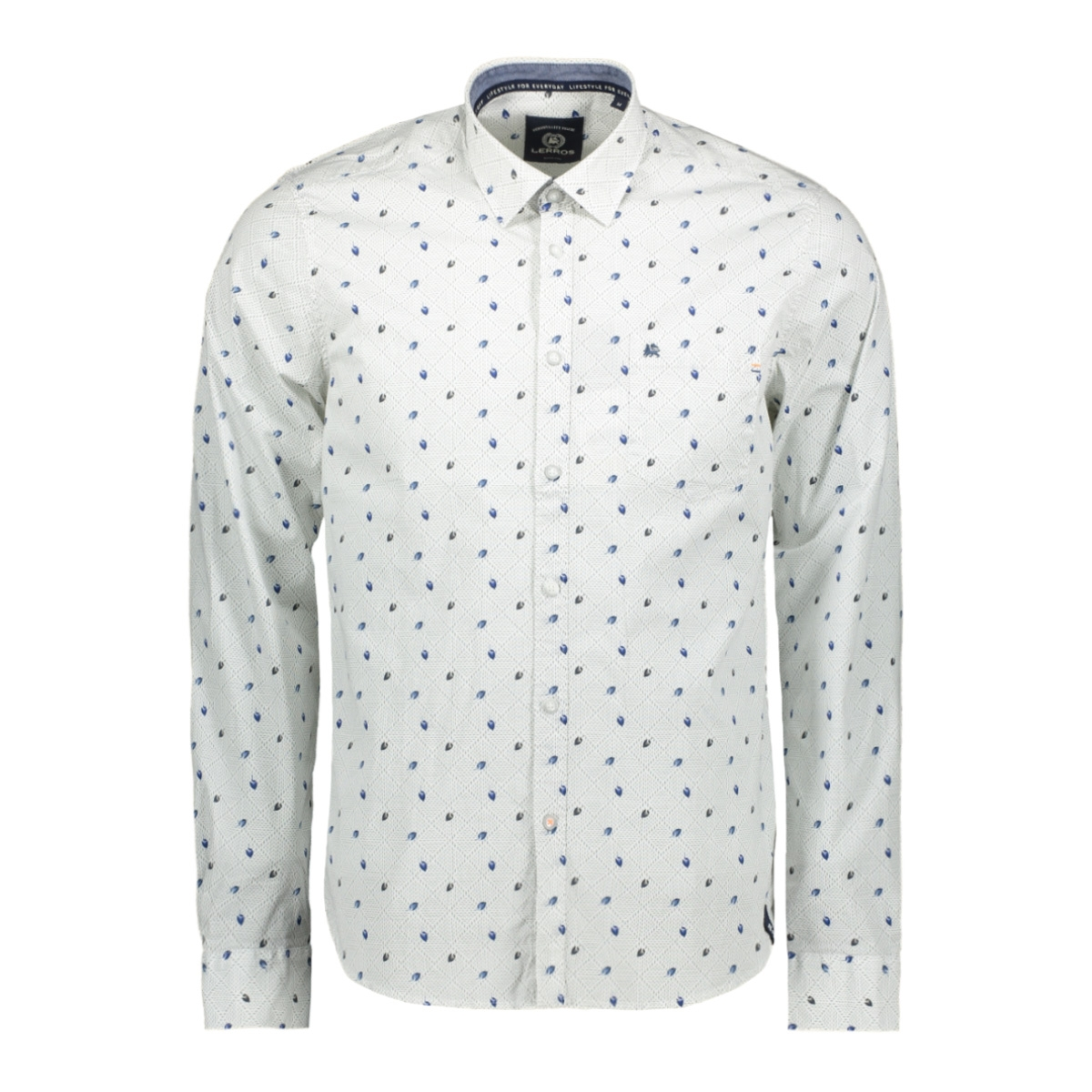 overhemd met all over print 2971017 lerros overhemd 222