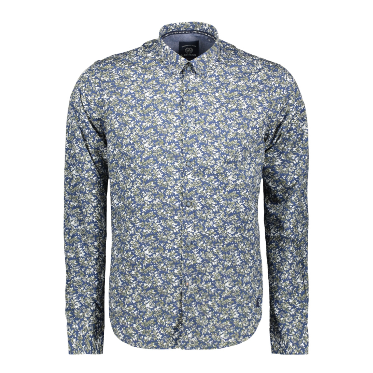 overhemd met all over print 2971119 lerros overhemd 643