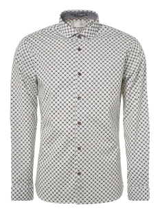 all over printed stretch shirt 92480802 no-excess overhemd 010 white