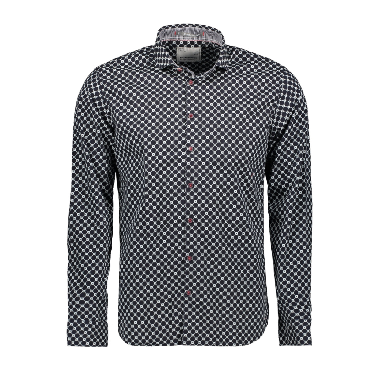 all over printed stretch shirt 92480802 no-excess overhemd 078 night