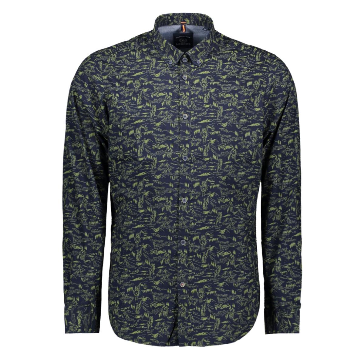 overhemd met all over print 2991159 lerros overhemd 485