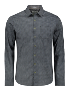all over printed shirt 92410904 no-excess overhemd 132 shadow blue