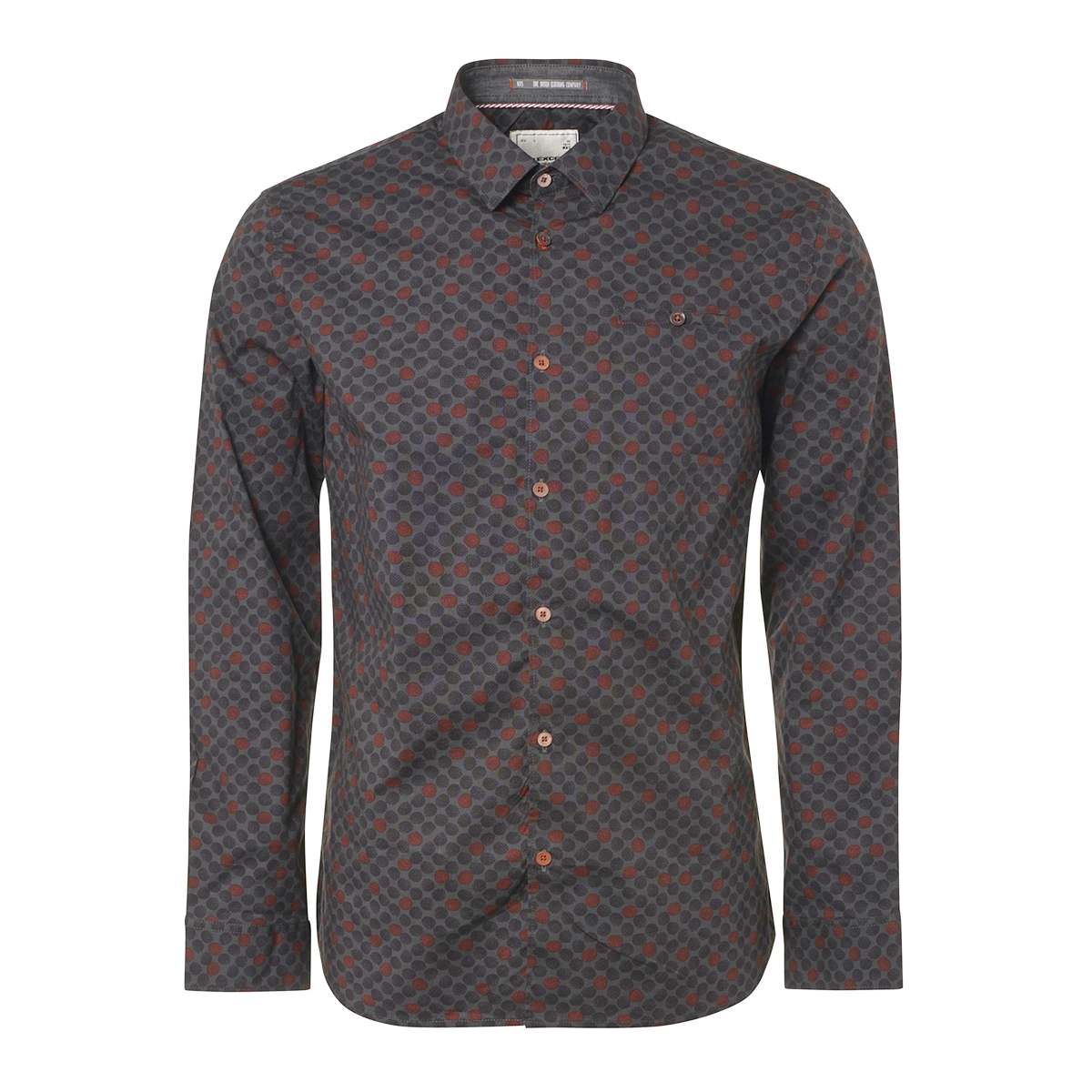 allover printed stretchshirt 92430905 no-excess overhemd 025