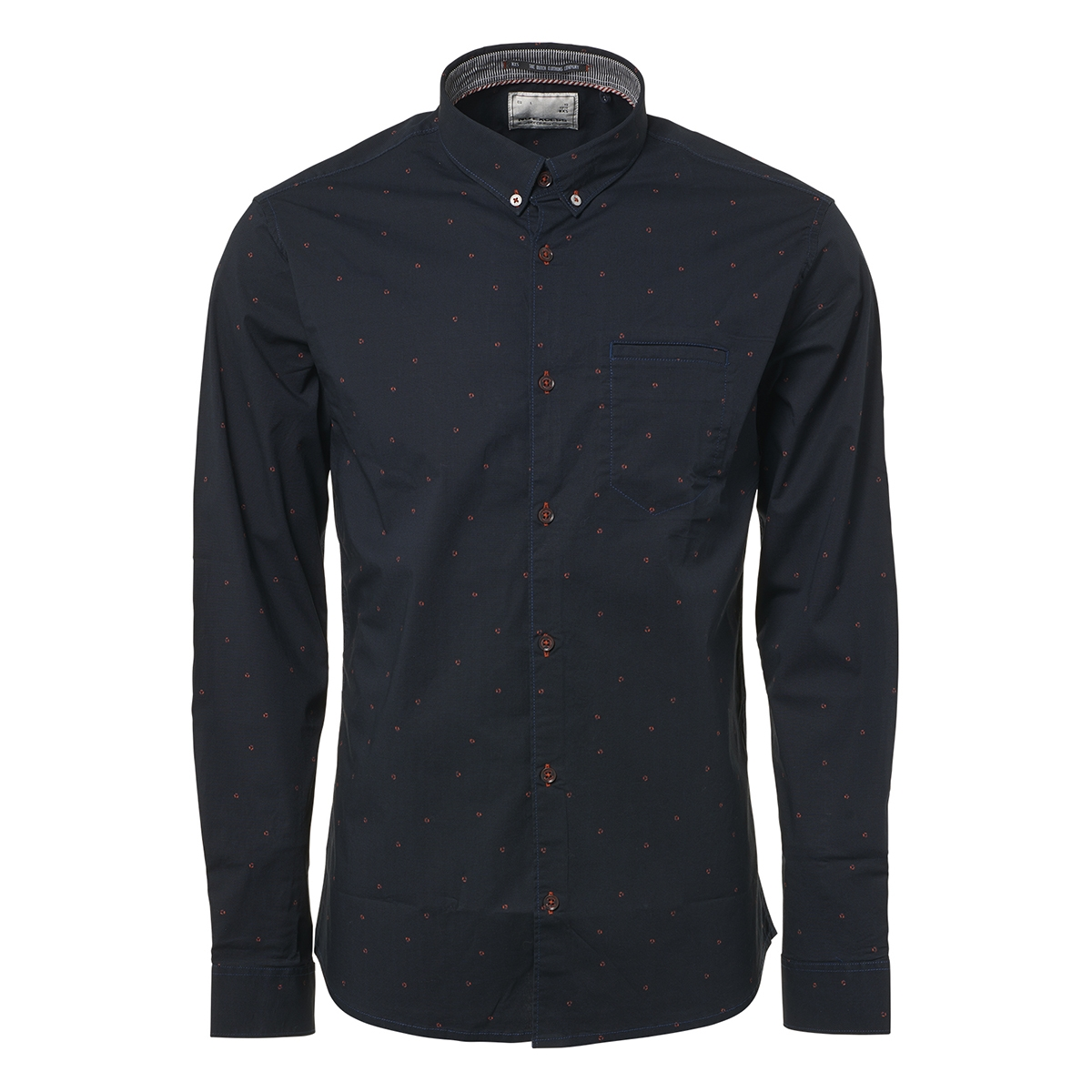 allover printed stretchshirt 92480905 no-excess overhemd 132