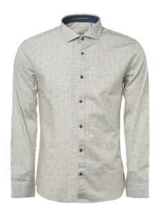 NO-EXCESS Overhemd ALL OVER PRINTED SHIRT 92430912 010 WHITE