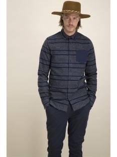 st vert stripe 1901040005 kultivate overhemd 319 dark navy
