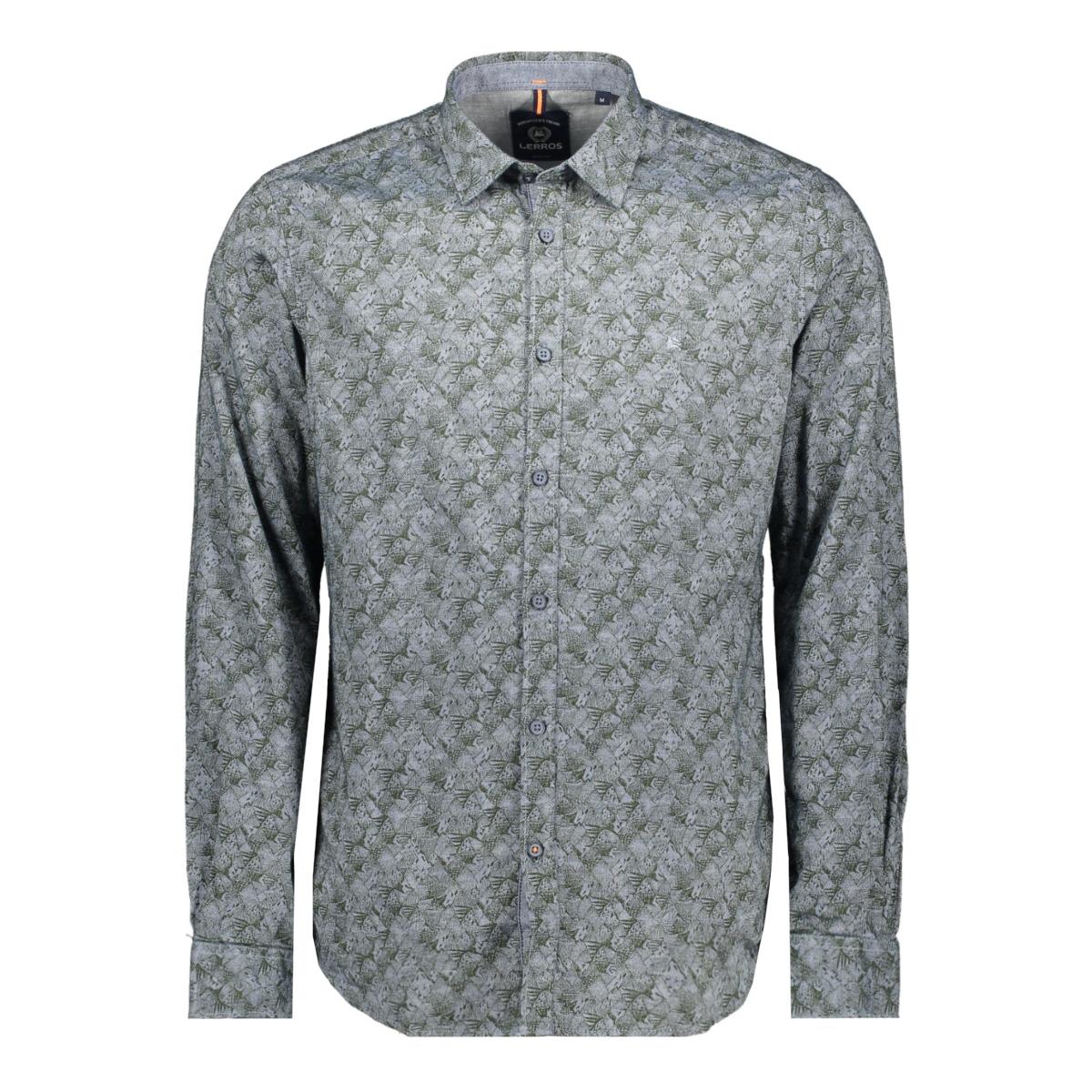 overhemd met all over print 29o1078 lerros overhemd 679